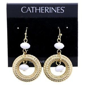 3/$20 Catherines gold and white fashion dangles